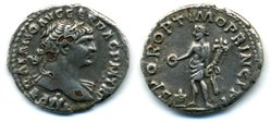 Ancient Counterfeits Trajan Fouree Denarius Genius.jpg